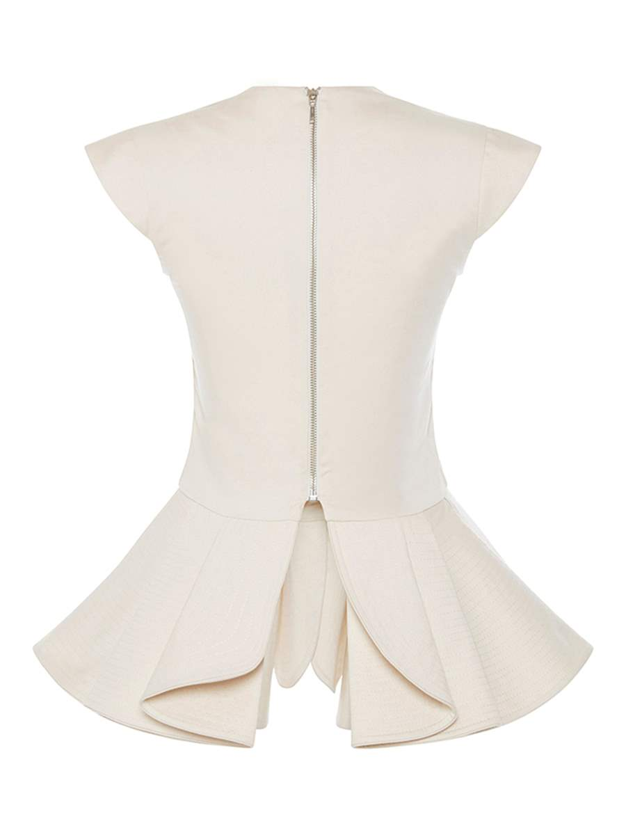 Ericdress V-Neck Lace-Up Bowknot Blouse