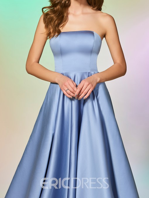 Ericdress A Line Strapless Prom Dress With Detachable Cape