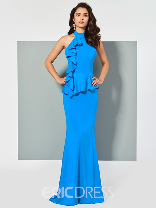 Ericdress Halter Spandex Mermaid Evening Dress With Sweep Train
