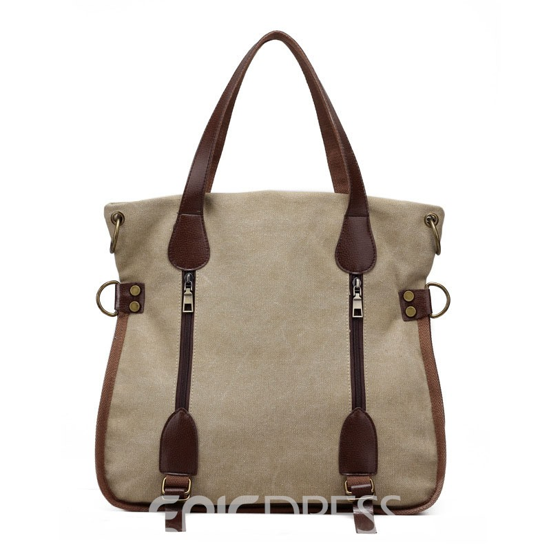 Ericdress Multimodal Canvas Tote Bag