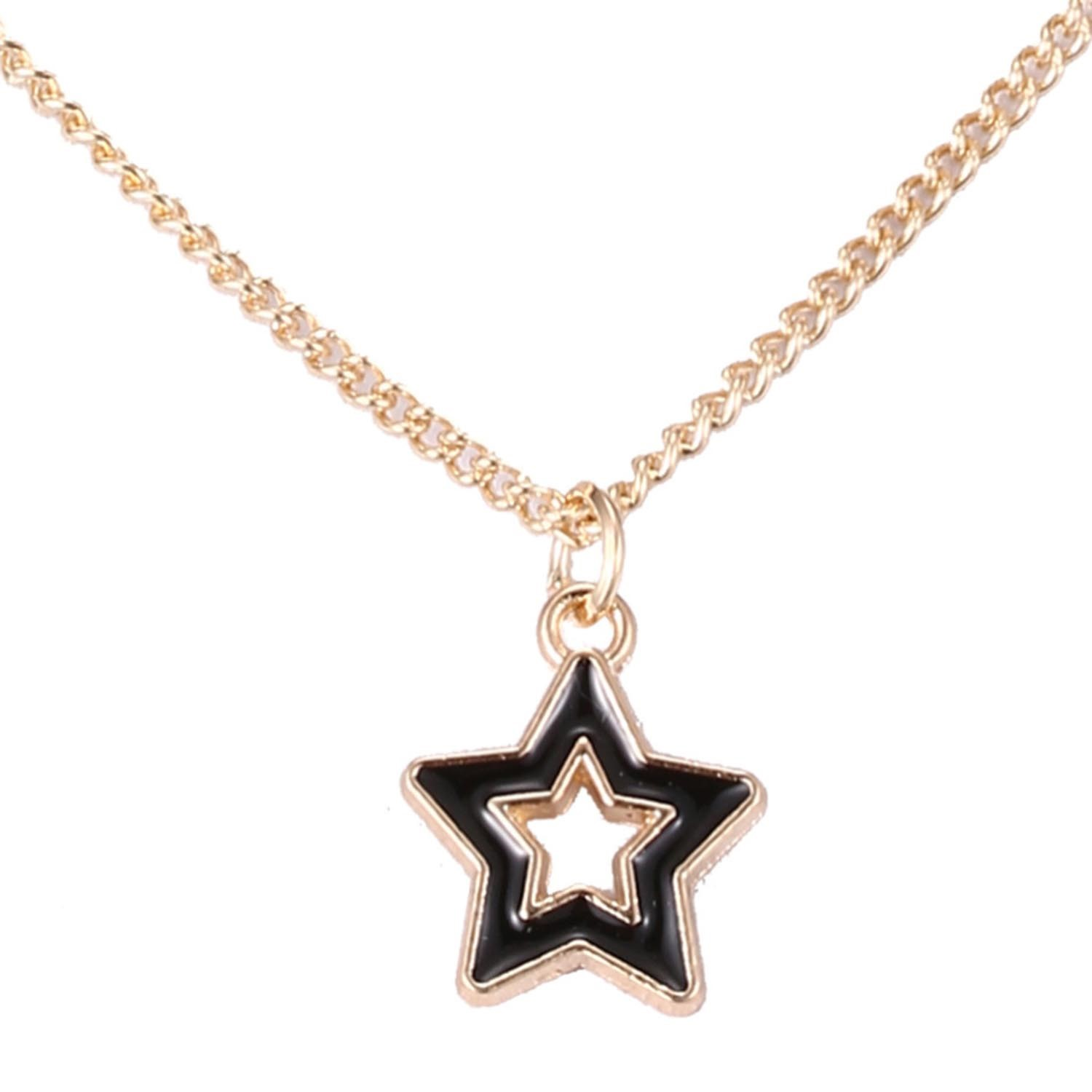 Ericdress All Match Five-Pointed Star Pendant Choker Necklace