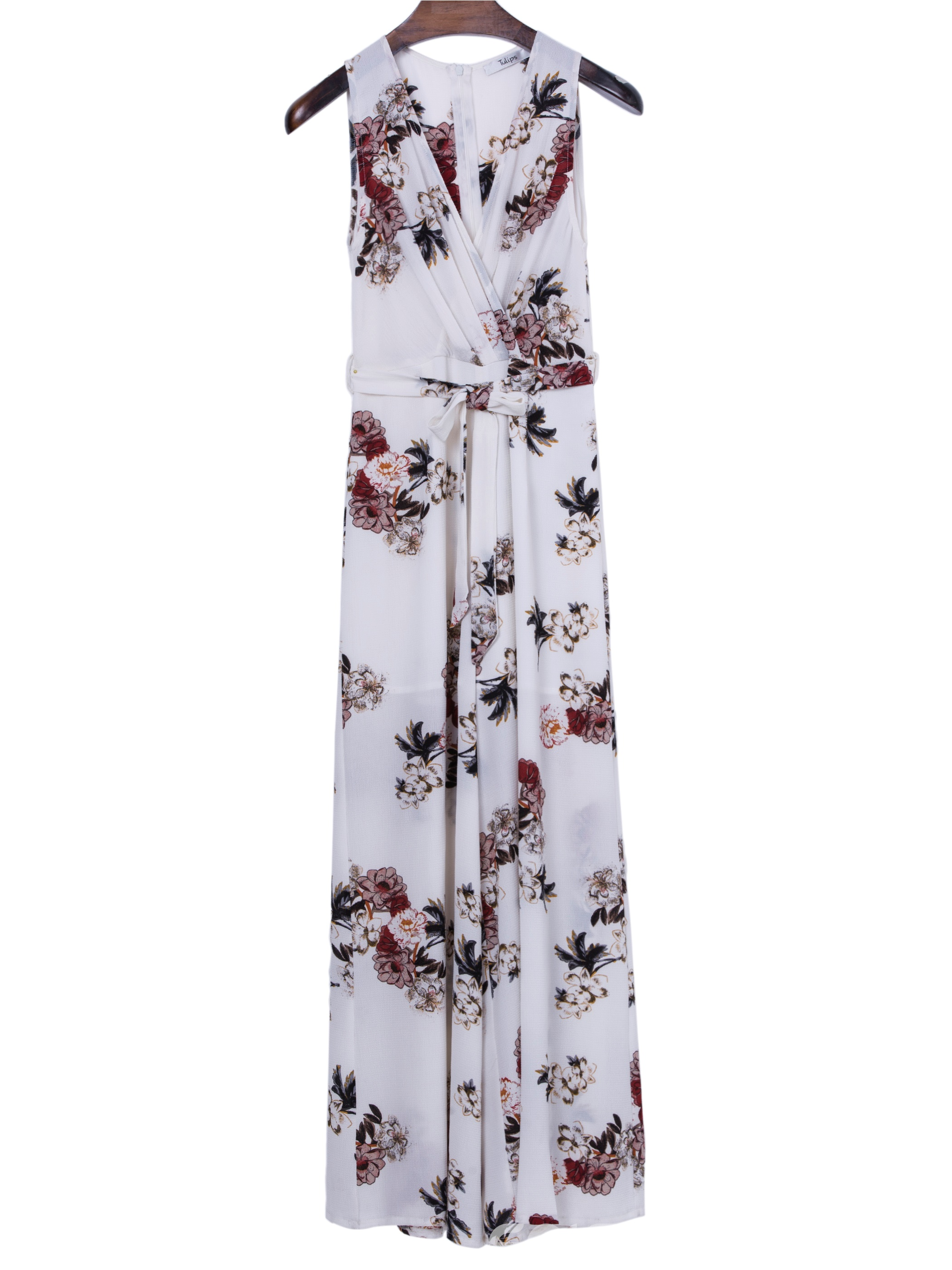 Ericdress Bohoartist V-Neck Flower Print Sleeveless Maxi Dress