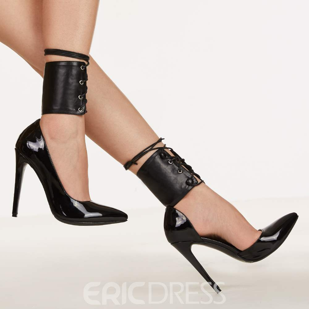 Ericdress Black Pointed Toe Ultra-High Heel Pumps