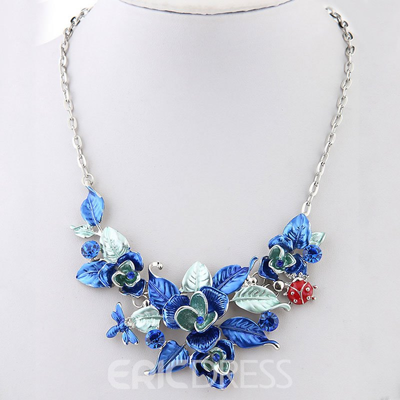 Ericdress Ultra Violet Flower Jewelry Set for Women