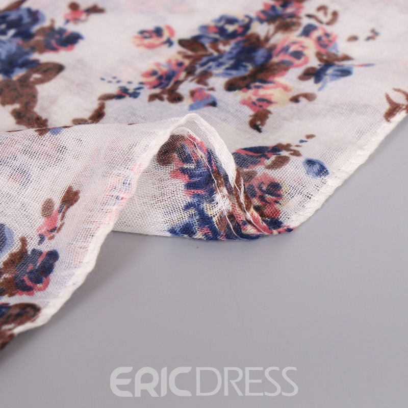 Ericdress Floral Printed Voile Scarf for Women