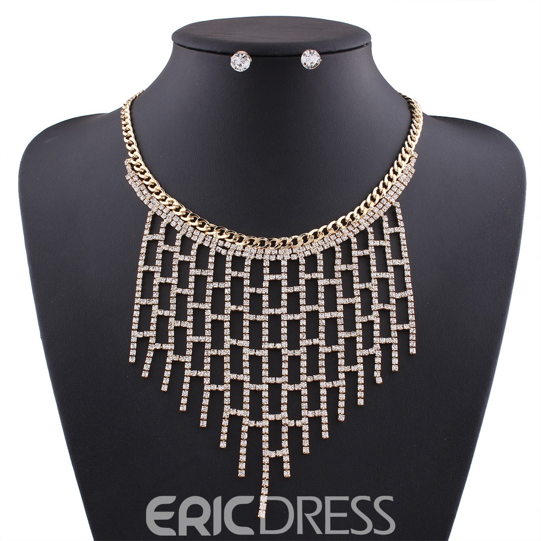 Ericdress All Match Rhinestone Tassel Women's Jewelry Set
