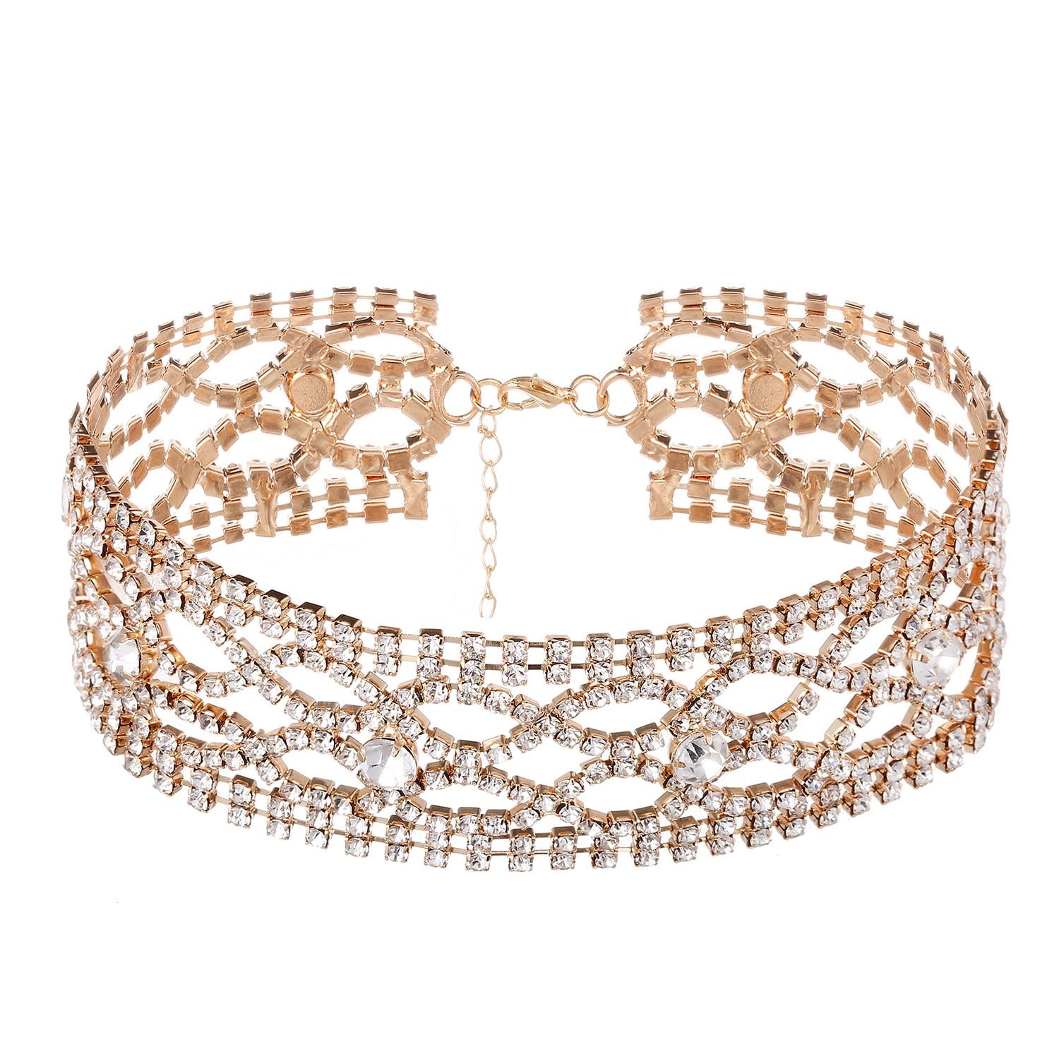 Ericdress Fully-Jewelled Choker Necklace for Women