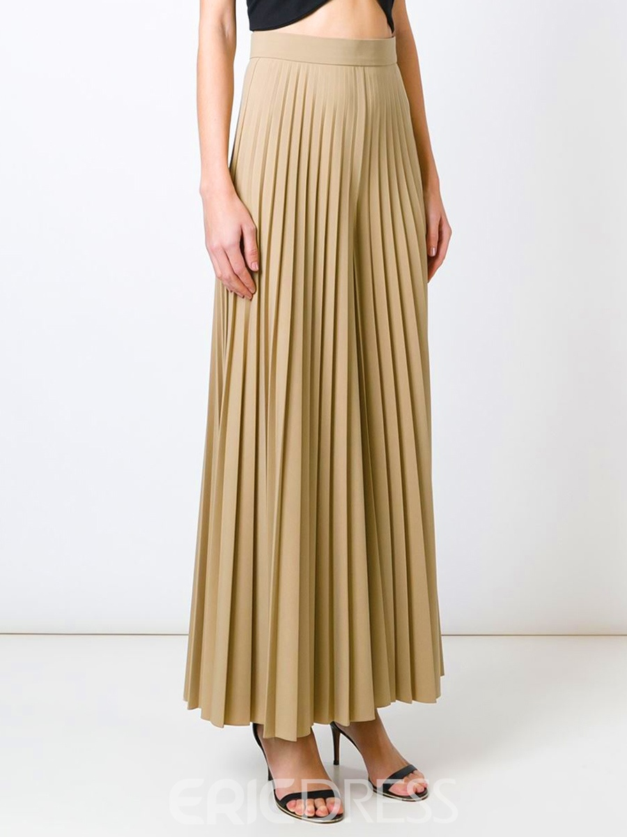 Ericdress Loose Pleated Wide Leg Wome's Pants