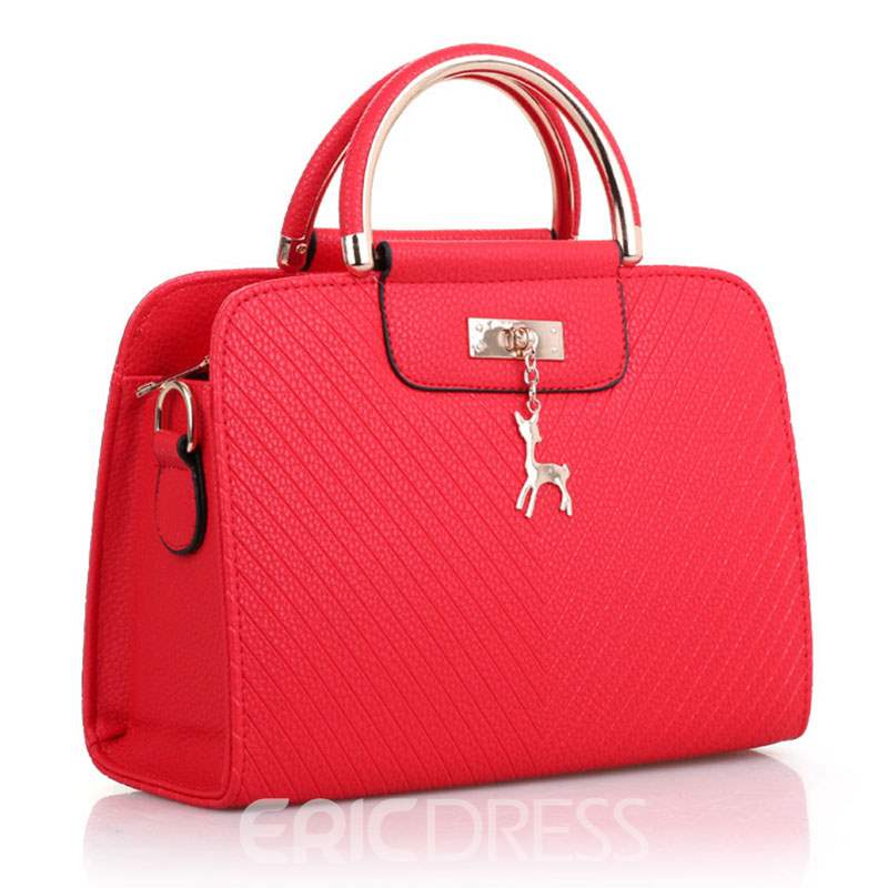 Ericdress Elegant Solid Color Women Handbag