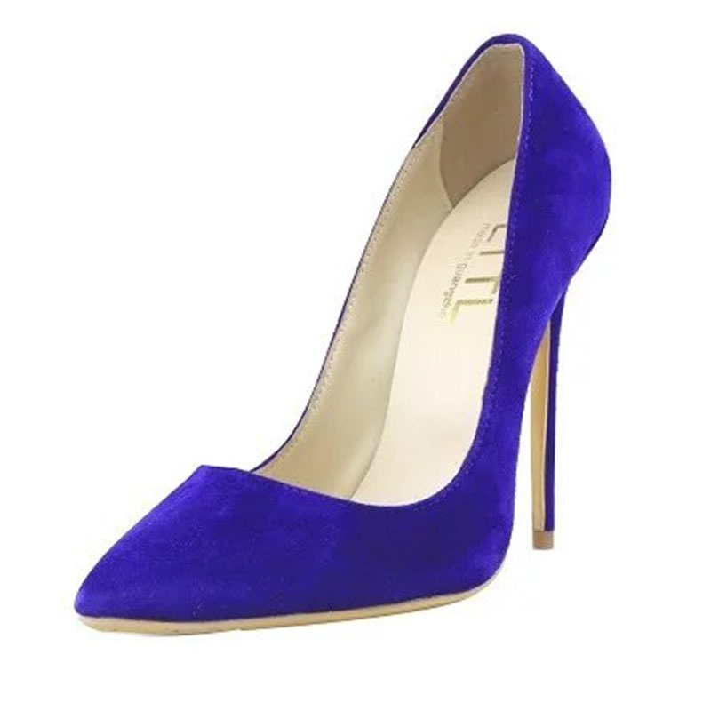 Ericdress Chic Suede Point Toe Pumps