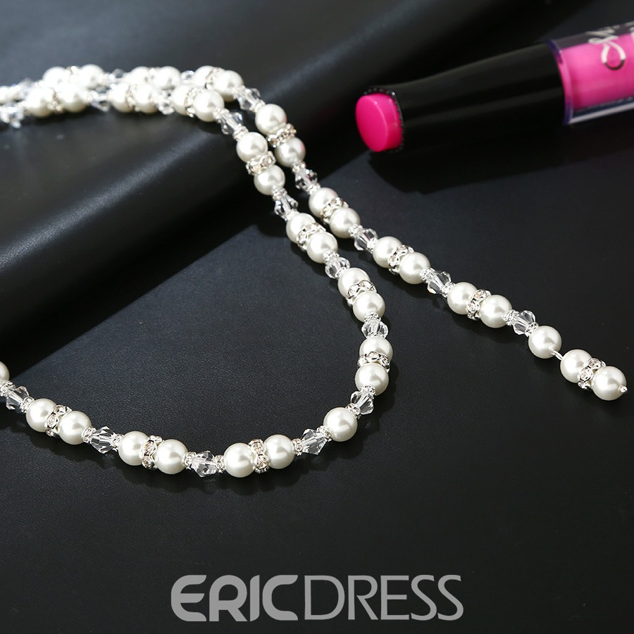 Ericdress Pearl Pendant Backdrop Necklace for Women