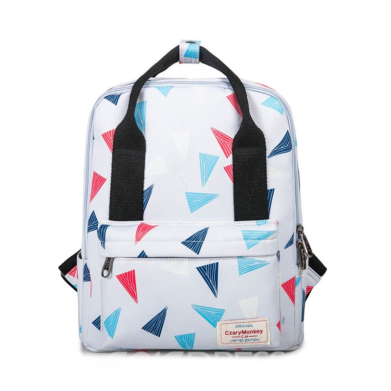 Ericdress Dual-purpose Printing Canvas Backpack