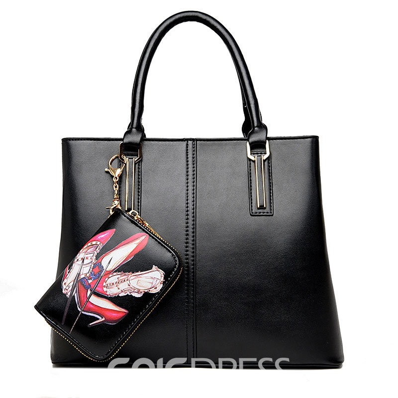 Ericdress Occident Style Solid Color Handbag