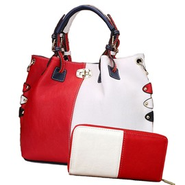 Ericdress Vogue Color Block PU Handbag(2 Bags)