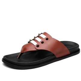 Ericdress PU Thong Men's Sandals