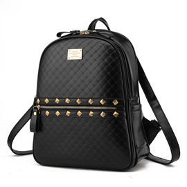 Ericdress Korea Style Rivets Adornment Backpack
