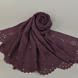 Ericdress Solid Color Imitation Pearl Ultra Violet Scarf for Women