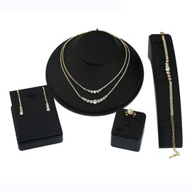 Ericdress Double Layer Diamante Jewelry Set for Women