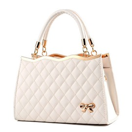Ericdress Quilted Lining Design Zipper PU Handbag
