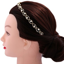 Ericdress Pearl Fully-Jewelled Hair Accessories