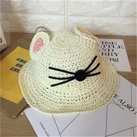 Ericdress Foldable Straw Sunhat for Kids