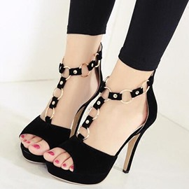 Ericdress Peep Toe Platform Stiletto Sandals