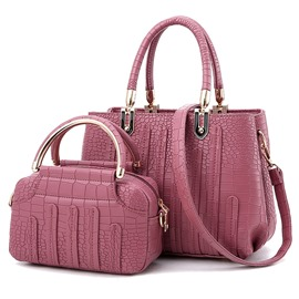 Ericdress Occident Style Croco-Embossed Bag Set(2 Bags)