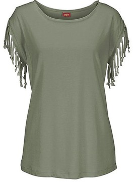 Ericdress Tassel Solid Color Short Sleeve T-shirt