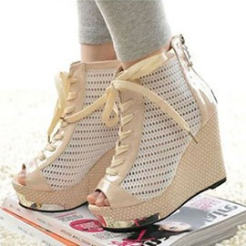 Ericdress Platform Cross Strap Wedge Sandals