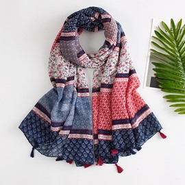 Ericdress National Style Tassel Long Voile Women's Scarf