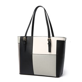 Ericdress All Match Patchwork Tote Bag