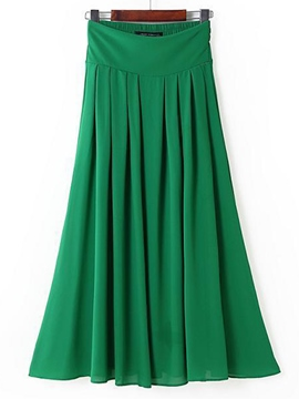 Ericdress Ankle-Length Pleated Skirts