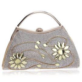 Ericdress Flower Rhinestone Pattern Evening Bag