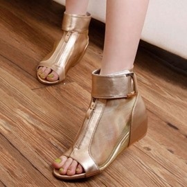 Ericdress Velcro Heel Covering Wedge Sandals