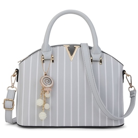 Ericdress Vertical Grain Shell Shape Handbag