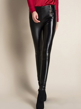 Ericdress High-Waist Zipper Leggings Pants