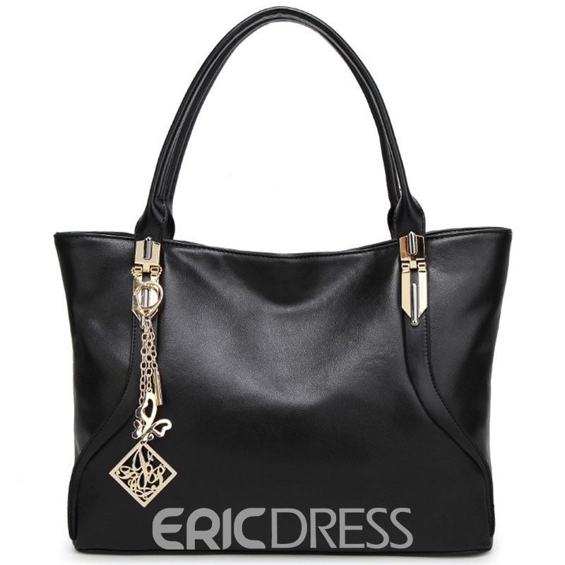 Ericdress Casual Metal Pendant Tote Bag