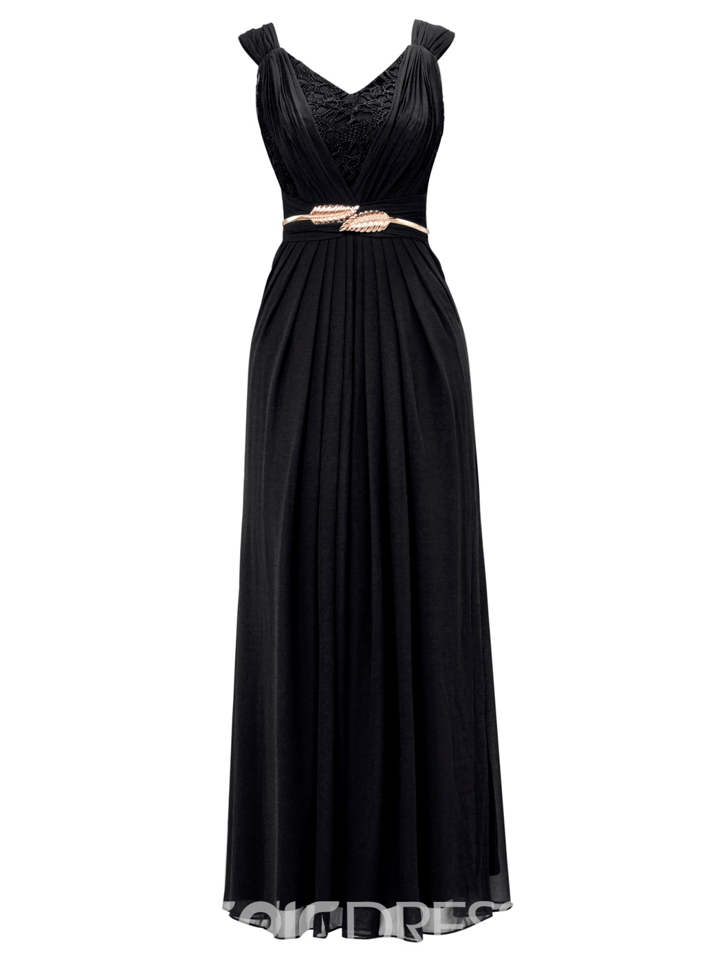 Ericdress Lace Pleated Chiffon A-Line Evening Dress