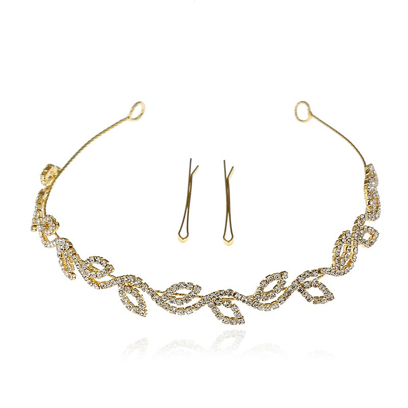 Ericdress Fully-Jewelled Hollow Out Leaf Hair Accessories