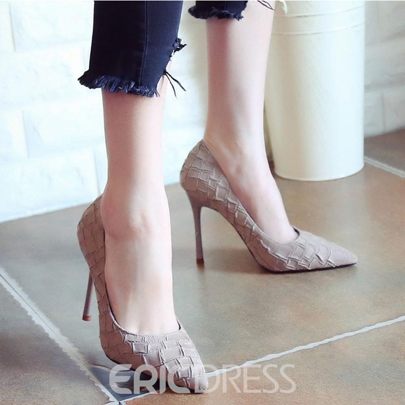 Ericdress Special Suede Point Toe Pumps
