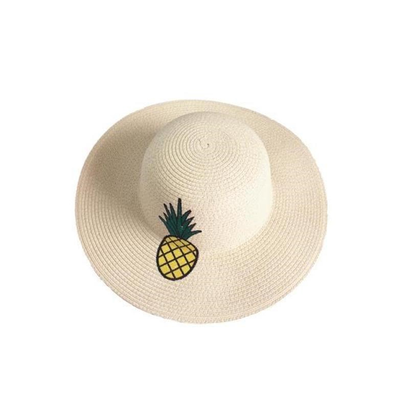 Ericdress All Match Embroidery Pineapple Foldable Women's Sunhat
