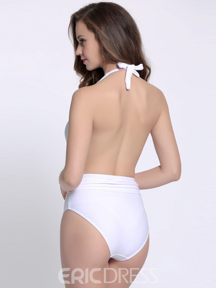 Ericdress Sexy Deep V-Neck Backless Monokini