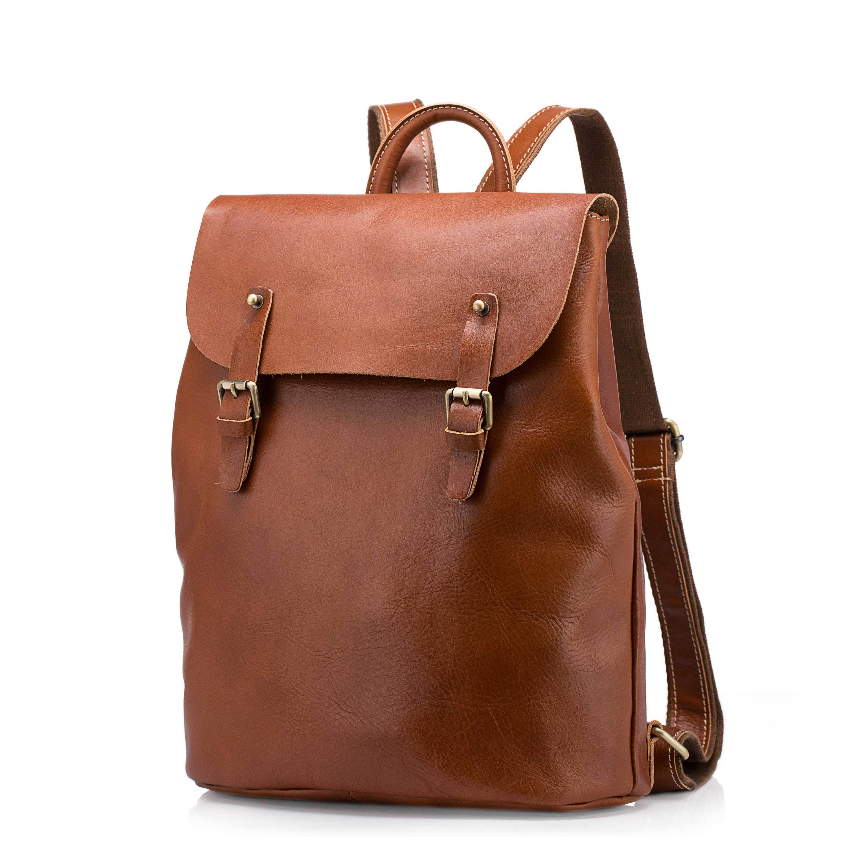 Ericdress Plain Leather Backpacks
