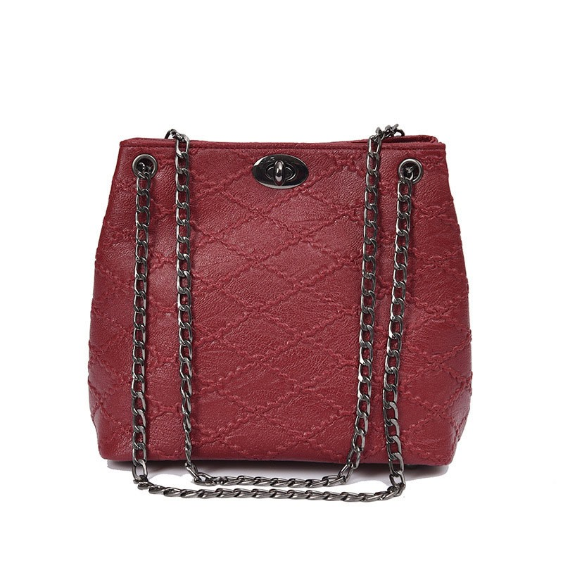 Ericdress Fashion Quilted Lining Chain Crossbody Bag