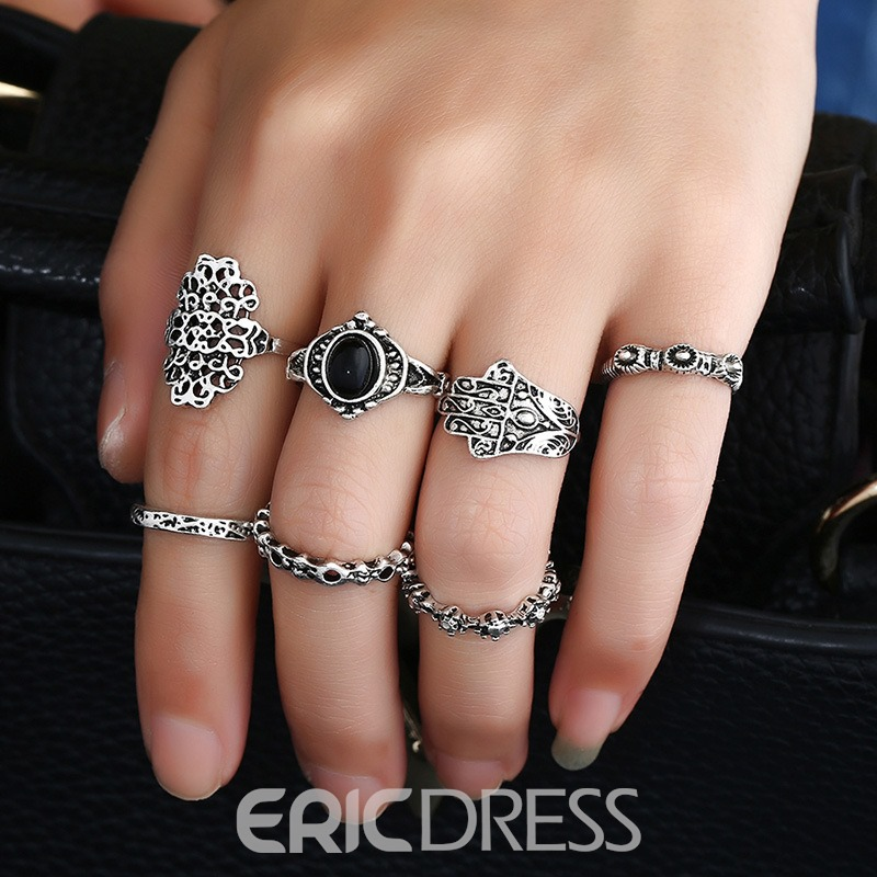 Ericdress 7-Piece Bohemia Stylish Ring for Women