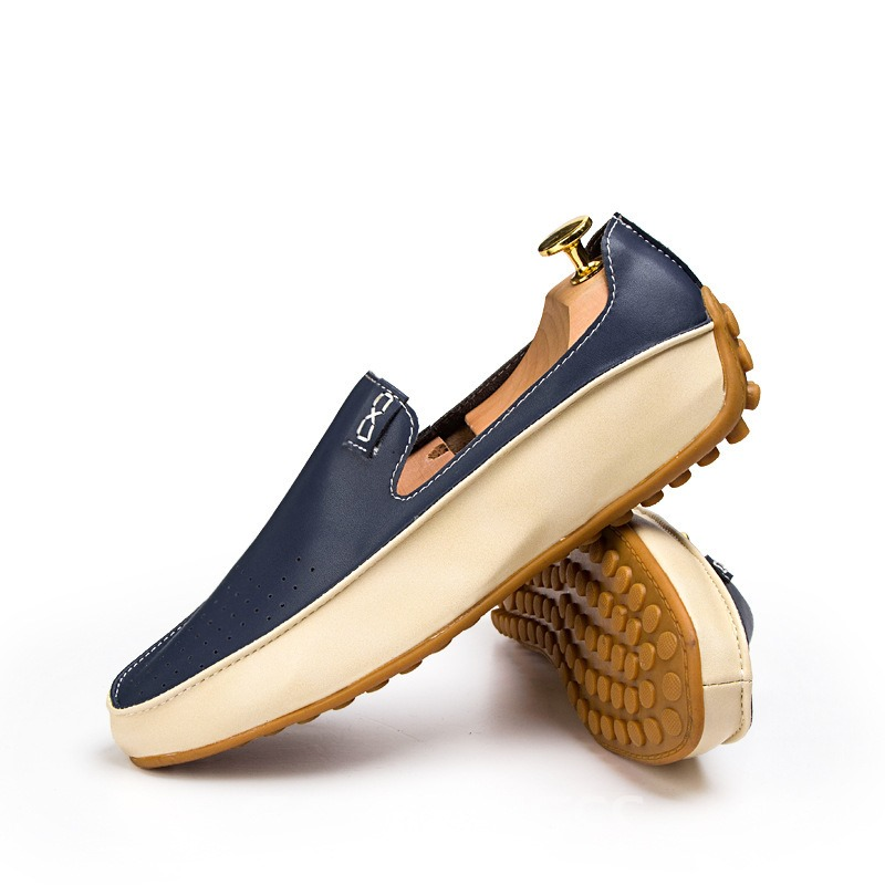 Ericdress Color Block Men's Moccasin Gommino