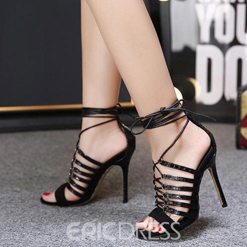 Ericdress Sexy Roman Cross Strap Stiletto Sandals