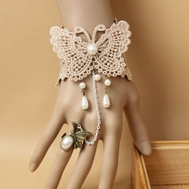 Ericdress Retro Lace&Pearl Retro Bracelet for Women