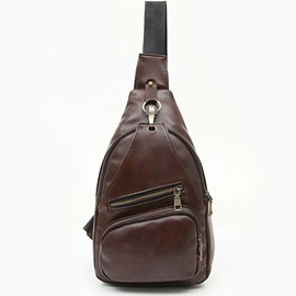 Ericdress Retro Zipper Men's Chest Pack