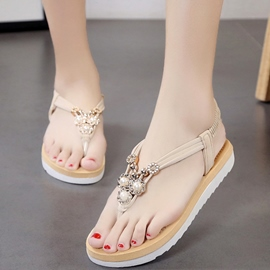 Ericdress Summer Suede Clip Toe Flat Sandals